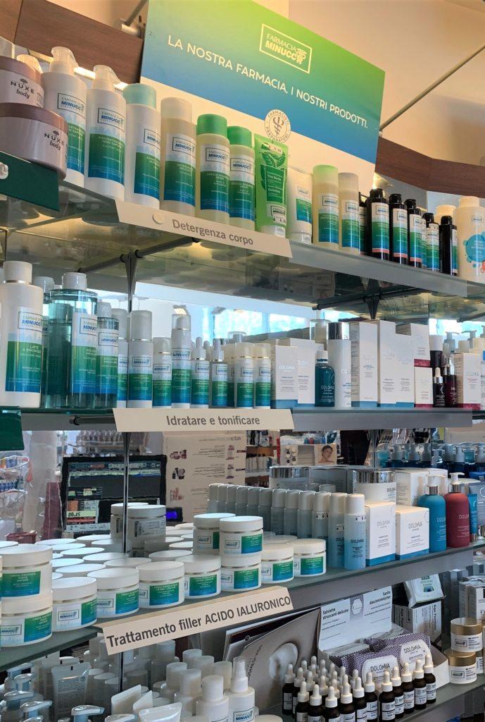 Reparto Cosmesi Farmacia Minucci